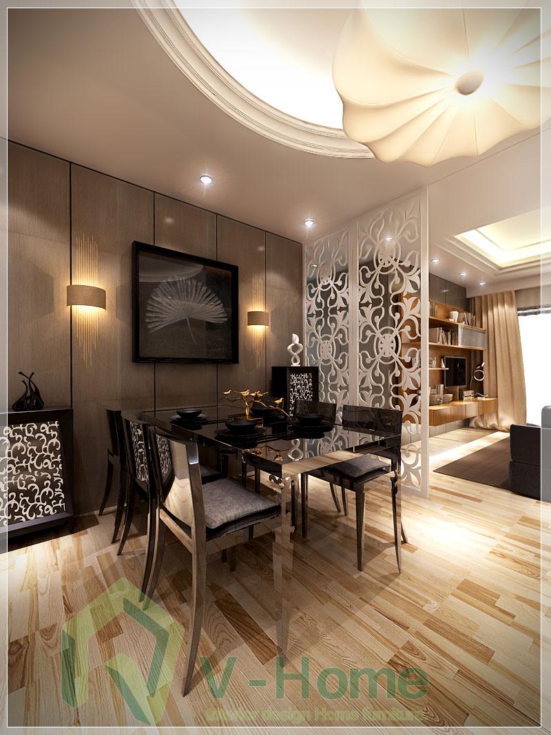 Phòng ăn chung cư 81m2 N07B3