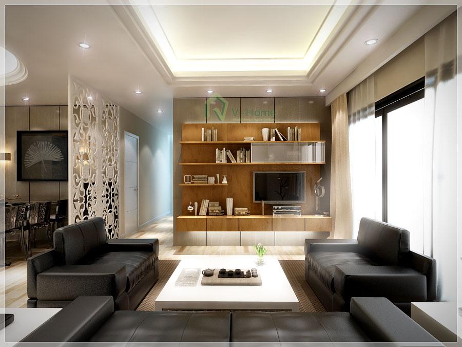 Nội Thất phòng khách căn hộ N07B3