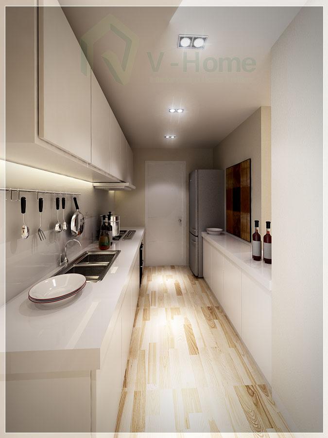 Nội thất bếp của căn hộ