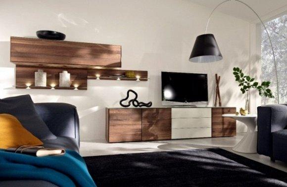 Kệ đồng bộ góp phần tạo nên phong cách sang trọng cho phòng khách.