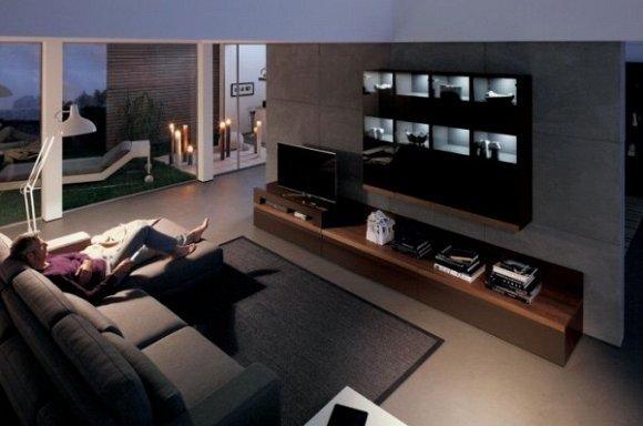 Mẫu kệ gỗ đa năng dành cho phòng khách rộng.