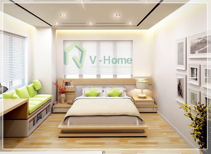 Phòng ngủ căn hộ 77m2 Hapulico