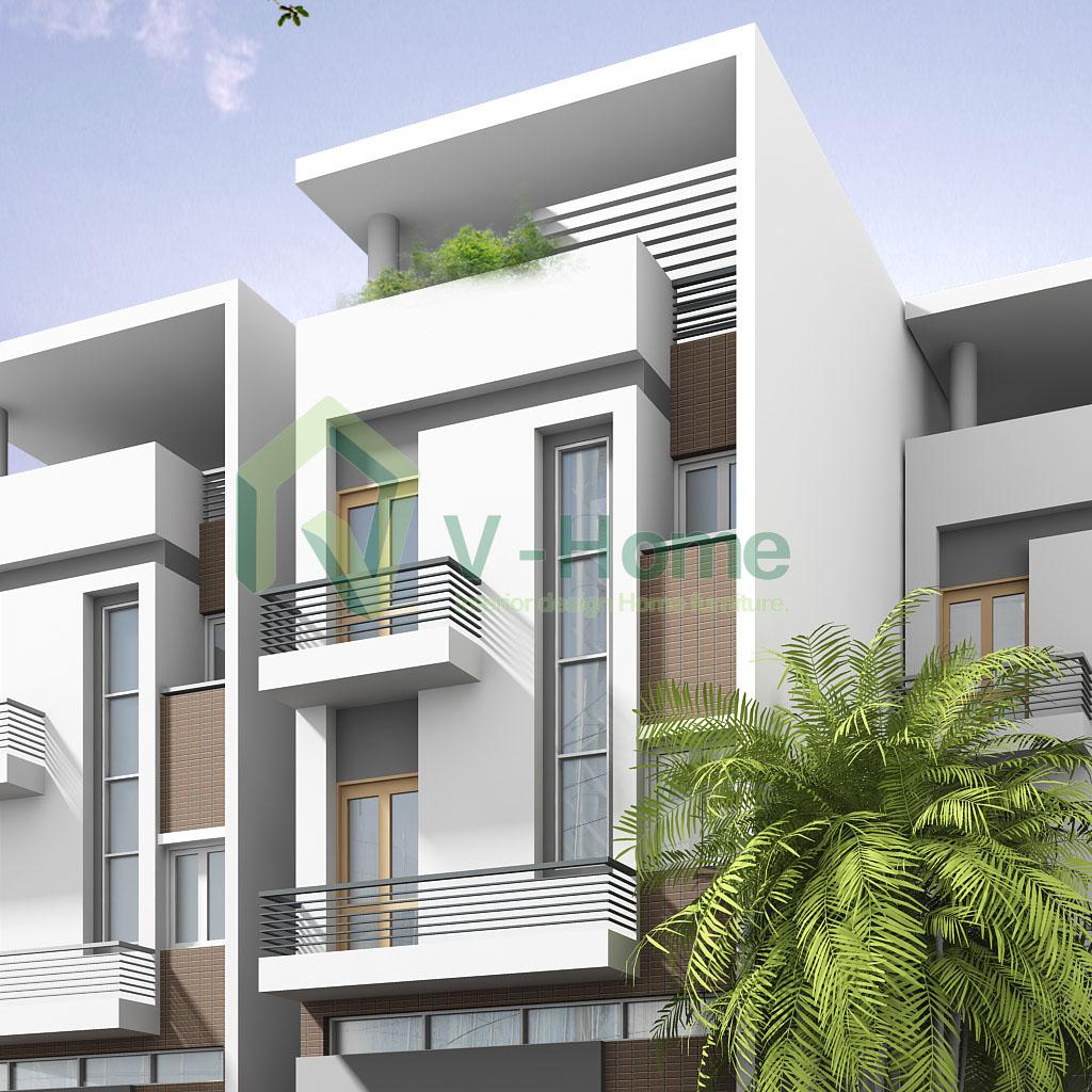V-home thiết kế nội ngoại thất nhà lô, phố