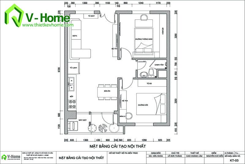 thiết kế nội thất chung cư hạ đình 1