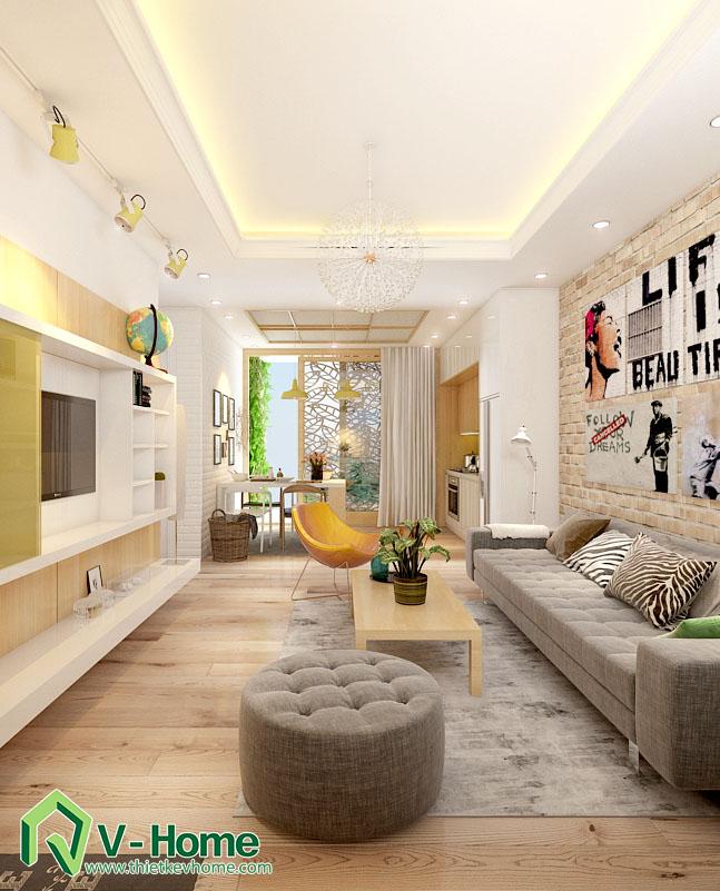 thiết kế nội thất chung cư hạ đình 2