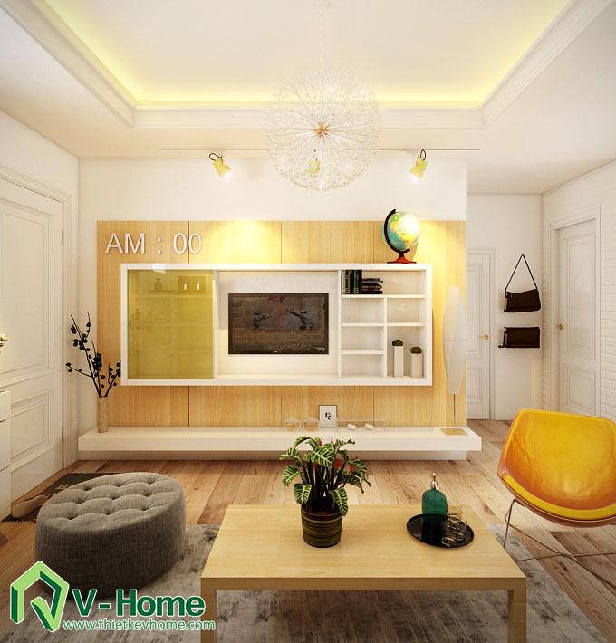 thiết kế nội thất chung cư hạ đình 4