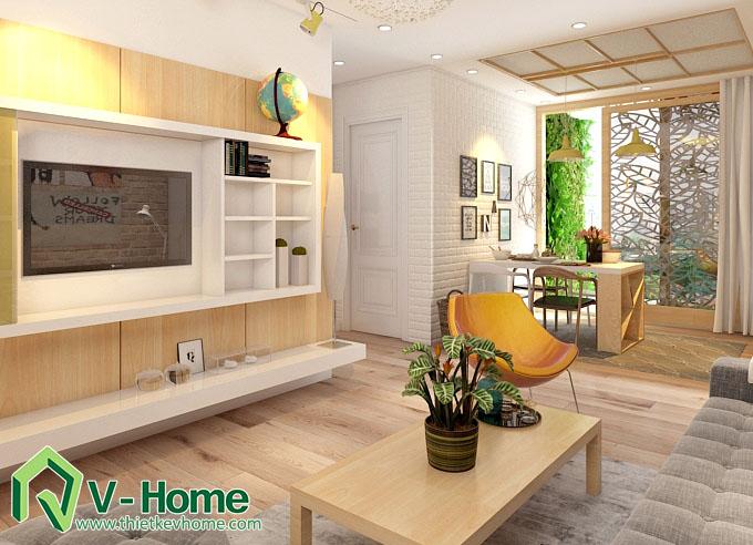 thiết kế nội thất chung cư hạ đình 5