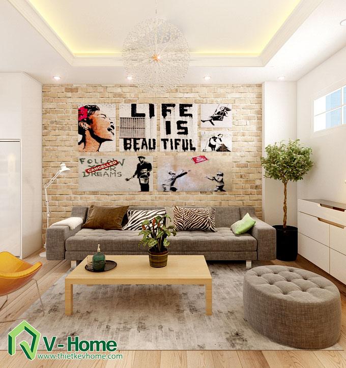 thiết kế nội thất chung cư hạ đình 6