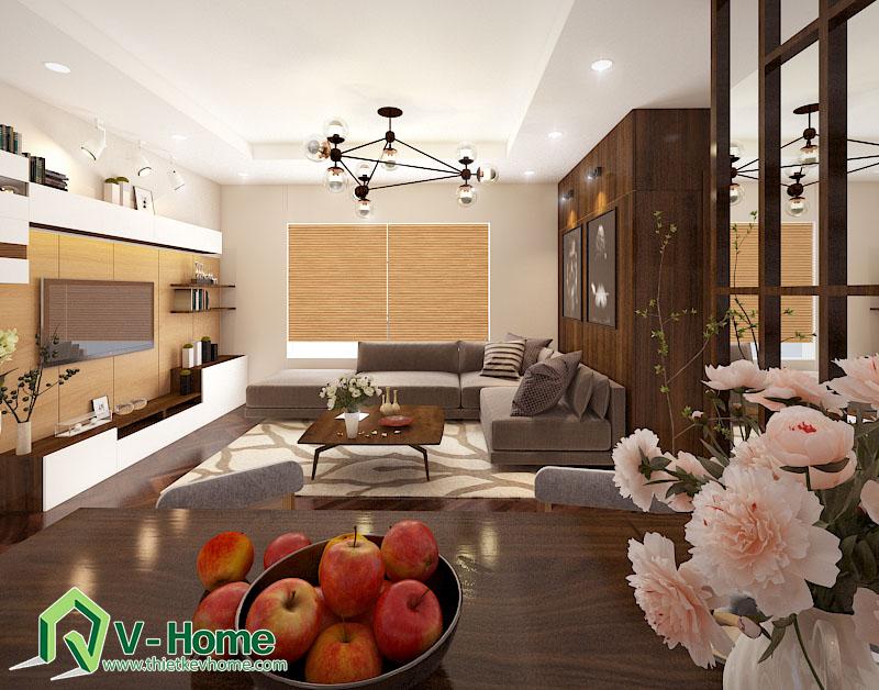 Thiết kế nội thất phòng khách chung cư Times City Noi-that-phong-khach-times-city-2