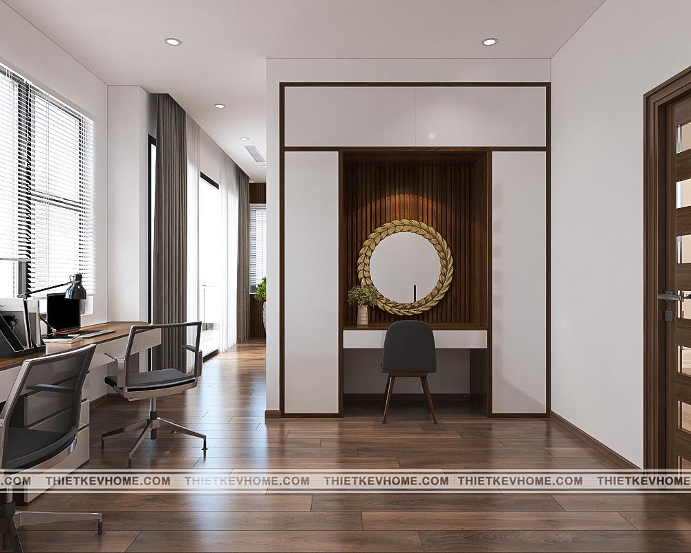 Thiết kế nội thất biệt thự hiện đại Đông Anh – chị Hằng pa 1tang 2 phong master 1 5