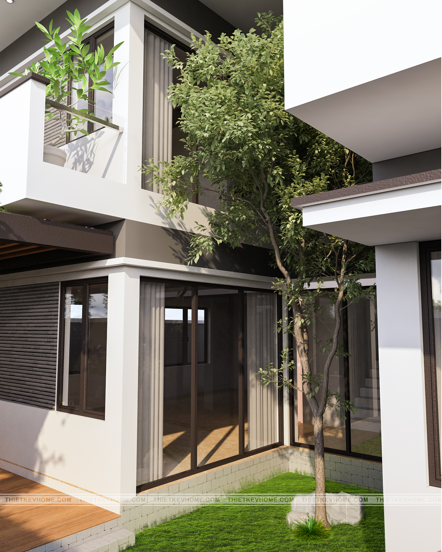 Thiết kế nội thất biệt thự hiện đại Đông Anh – chị Hằng thiet ke biet thu 6